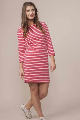 Ladies Scarlet Stripe Dress