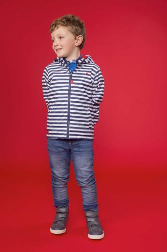 Boys Coat (Eclipse Stripe)