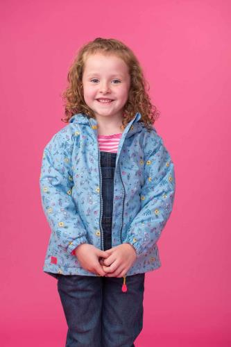 Girls Coat (Floral Wodland)