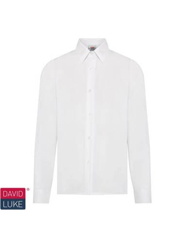 Boys White Long Sleeve Shirts (Twin Pack)