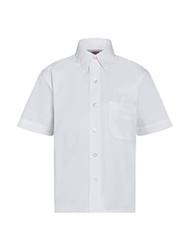 Boys White Short Sleeve Shirts (Twin Pack)