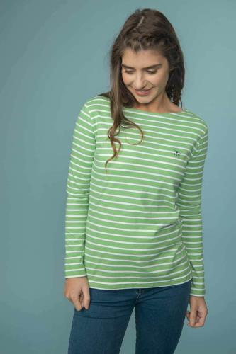 Ladies Breton Top (Pistachio)