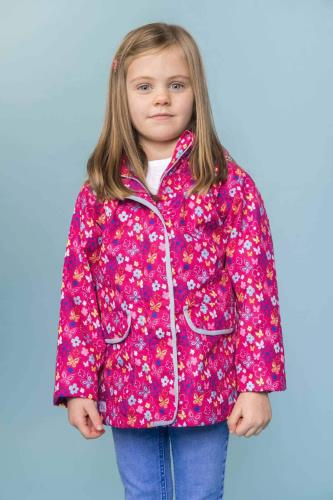 Girls Butterfly Print Coat