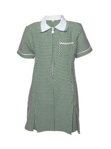 Gingham Summer Dress - Green