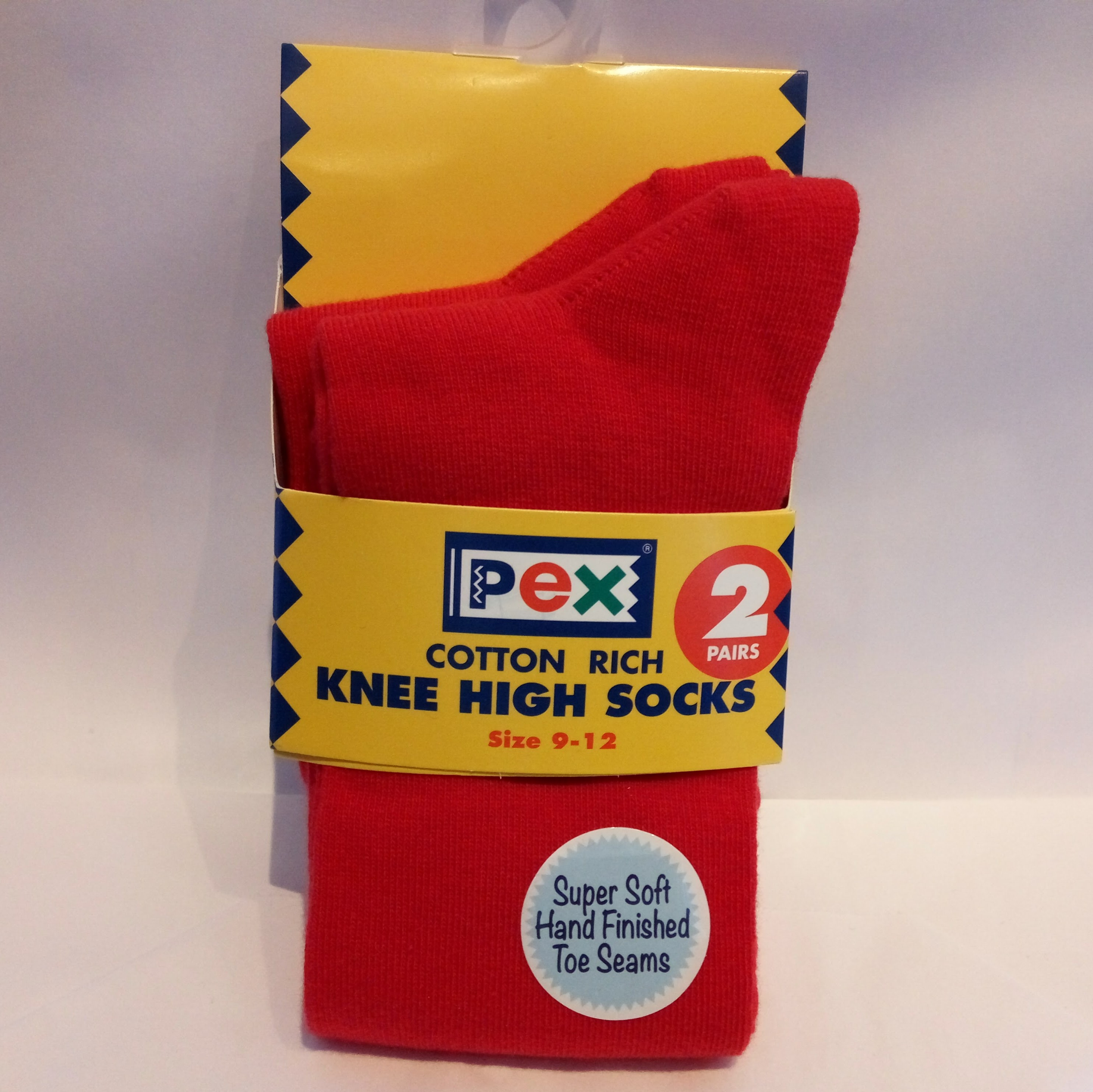 Red Knee High Socks (Twin pack)
