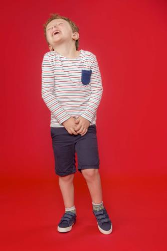 Boys Top (Multi Stripe)