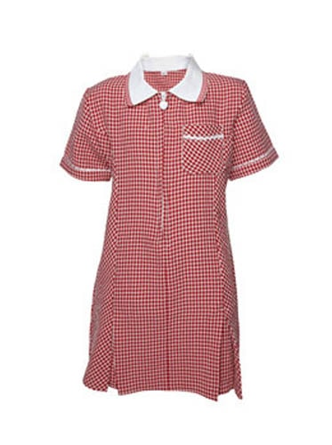 Gingham Summer Dress - Red
