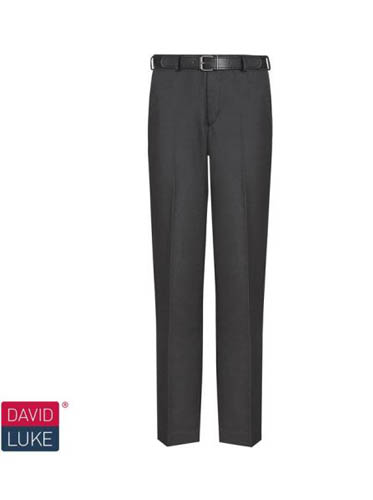 Senior Boys Black Regular Fit Trousers