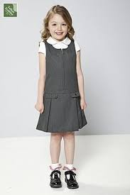 Pleated Pinafore Grey